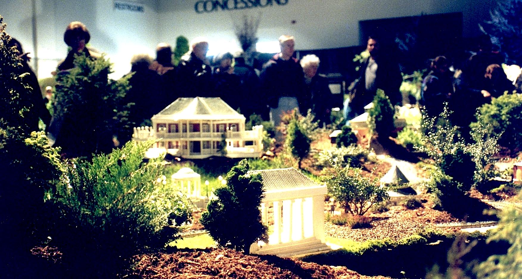 3-D models of Park Buildings Flower Show