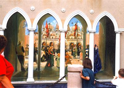 Venetial Plaza public mural 14' across a copy
