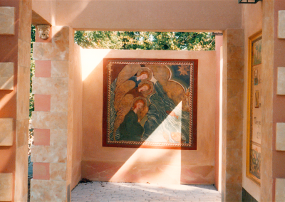 side mural in Marco Polo Exhibit